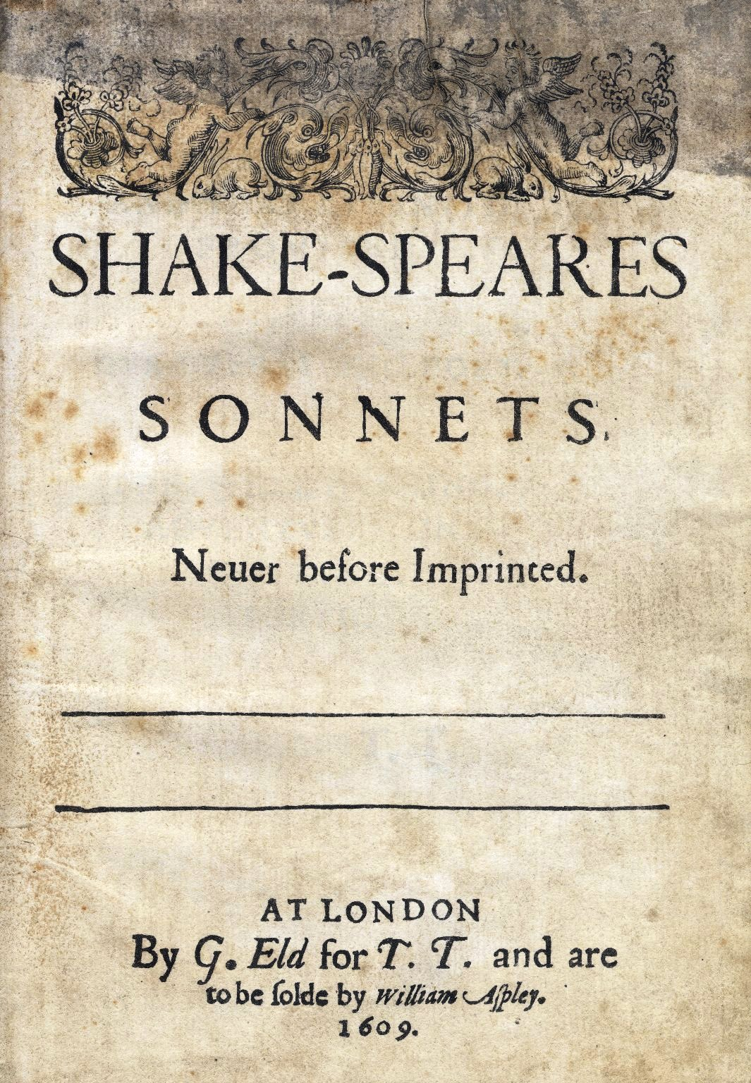 Sonnets1609 title page